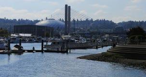 Tacoma kopuły arena jak widzieć od marina terenu obrazy stock