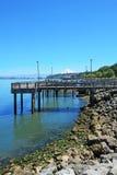 Tacoma, línea de costa del embarcadero. Manera de Ruston. imagen de archivo libre de regalías