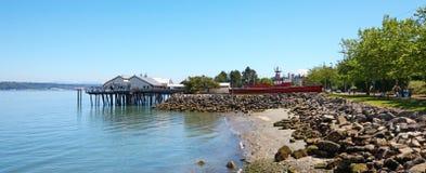 Tacoma, mola nabrzeże Ruston sposób zdjęcie royalty free