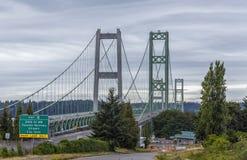 Tacoma-Narrows Bridge Stock Photography