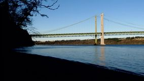 Tacoma narrows on a spring evening in washington. State stock footage