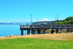 Tacoma. Pier view. WA Royalty Free Stock Photos