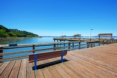 Tacoma, pier waterfront. Ruston Way. royalty free stock photography