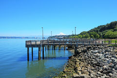 Tacoma, pier waterfront. Ruston Way. Stock Image