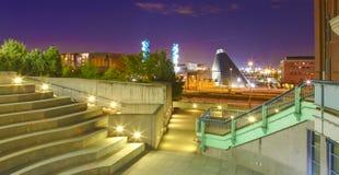 Tacoma som är i stadens centrum med museet av exponeringsglas och historia royaltyfria foton