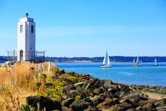 Tacoma strand med panoramautsikt Royaltyfria Foton