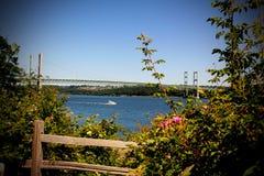Tacoma verengt Aufhebung-Brücke lizenzfreie stockfotos