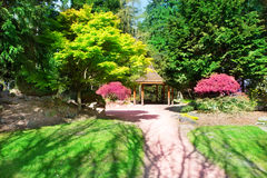 TACOMA, WA - APRIL 14, 2014: Japanese Garden in Point Defiance Park. TACOMA, WA - APRIL 14, 2014: Japanese Garden in Point Defiance Park stock image