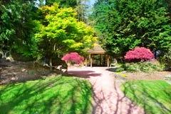 TACOMA, WA - 14 AVRIL 2014 : Jardin japonais en parc de défi de point Image stock