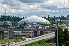 TACOMA, WA - Tacoma Kopuły Wielka Drewniana Kopuła obraz royalty free