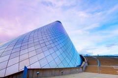 TACOMA WASHINGTON - SEPTEMBER 16, 2011: Den varma Glass blåsa kotten shoppar av det Tacoma museet av exponeringsglas Fotografering för Bildbyråer