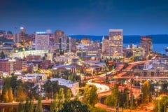 Tacoma, Waszyngton, usa linia horyzontu zdjęcie royalty free