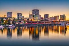 Tacoma, Waszyngton, usa linia horyzontu fotografia stock