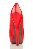 Tacones altos rojos, solo zapato Imagen de archivo libre de regalías