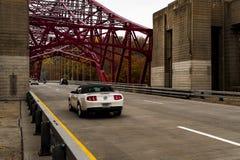 Taconic Parkway Stalowego łuku most Nowy Jork - Nowy Croton rezerwuar - obraz stock