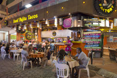 Tacorestaurang i Cancun Royaltyfria Bilder