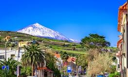 Tacoronte, Tenerife, wyspy kanaryjska, Hiszpania: Ulicy Tacoronte obraz royalty free