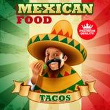 Tacos μεξικανός Στοκ εικόνα με δικαίωμα ελεύθερης χρήσης