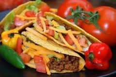 tacos крупного плана Стоковая Фотография