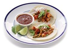 Tacos свинины и кактуса стоковые фотографии rf