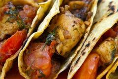 tacos цыпленка Стоковое Фото