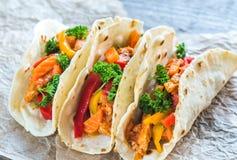 tacos цыпленка Стоковое Изображение RF
