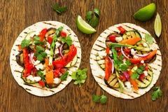 Χορτοφάγα tacos πρόχειρων φαγητών Στοκ εικόνα με δικαίωμα ελεύθερης χρήσης