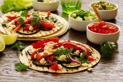 Χορτοφάγα tacos πρόχειρων φαγητών Στοκ Φωτογραφίες