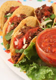 Tacos. Delicious Mexican tacos royalty free stock photo