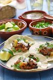 Tacos al pastor, meksykański jedzenie Obrazy Stock