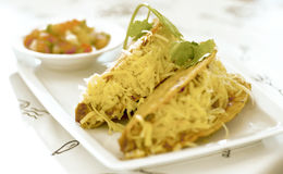 Tacos avec du fromage Photographie stock libre de droits