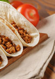 Tacos with beef and chilli Stock Photo