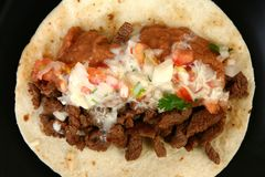 Tacos carne asada royalty free stock photos