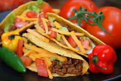 Tacos Closeup Stock Photography