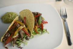 Tacos con carne de vaca Foto de archivo