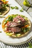 Tacos coréen fait maison de bifteck image libre de droits