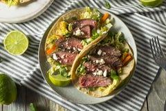 Tacos coréen fait maison de bifteck photos stock