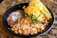 Tacos crunchy delicioso fotografia de stock royalty free