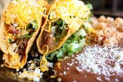 Tacos crunchy delicioso imagens de stock