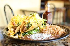 Tacos crunchy delicioso foto de stock royalty free