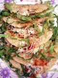 Tacos curruscantes de la barbacoa Imagen de archivo