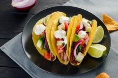 Tacos délicieux de dur-SHELL photos libres de droits