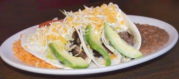Tacos de bifteck photo libre de droits