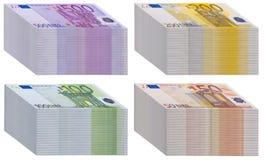 Tacos de billetes de banco stock de ilustración