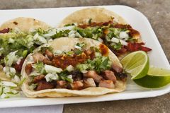 Tacos de Chuleta Fotografie Stock