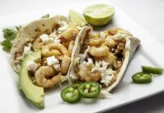 Tacos de crevette photographie stock libre de droits