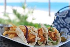 Tacos de peixes Fotografia de Stock