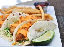 Tacos de peixes Foto de Stock Royalty Free