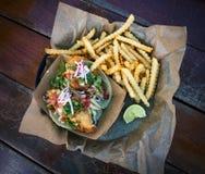 Tacos de peixes de Baja imagem de stock
