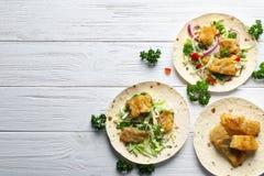 Tacos de peixes saboroso Fotografia de Stock